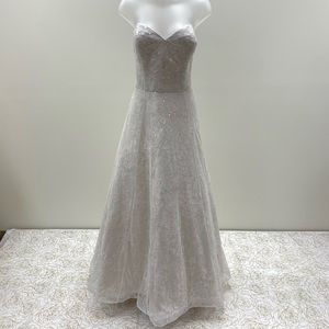 NWT Strapless Jacquelin Exclusive Wedding Dress